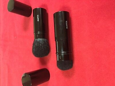 Pure Kabuki Brush - Mahya Pure Mineral Highlighter Kabuki Brush Shimmer For Face & Body
