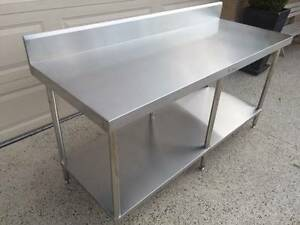 Simply Stainless 1800x700mm bench with splashback RRP $1345 Narre Warren North Casey Area Preview
