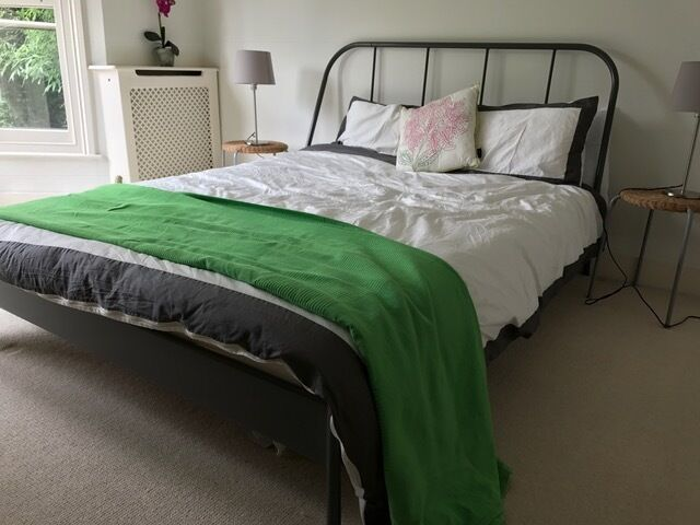 Ikea Kopardal Double Bed Frame And Morgedal Mattress In