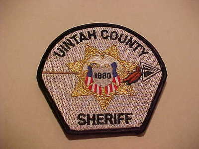 UINTAH COUNTY UTAH POLICE PATCH SHOULDER SIZE