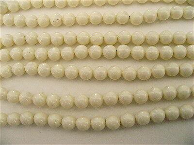 100 Ivory Swarovski Crystal Beads Pearls 5810 4mm
