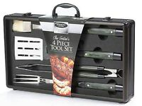Brand New Vermont Castings The Griller's 4 Piece Tool BBQ Set