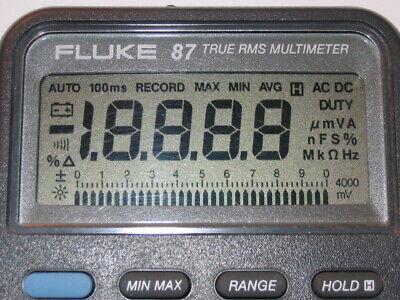 Fluke 87 Repair Kit For Faded Lcd Display Digits All Series L Lll V 1 3 5