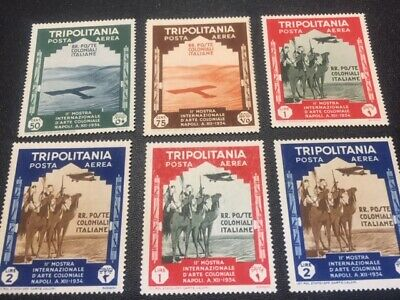 Tripolitania stamp C43-C48 MH (3)