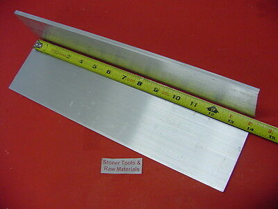 2 Pieces 38x 4 Aluminum 6061 Solid Flat Bar 14 Long T6 .38 Plate Mill Stock