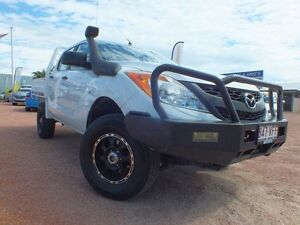 2012 Mazda BT-50 UP0YF1 XT White 6 Speed Manual Utility Rosslea Townsville City Preview