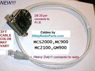 Motorola Mcs2000 Mcs 2000 R.i.b To Radio Programming Cable Made In The Usa