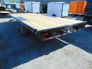2016 TNT 20'x8.5' 14,000 flat deck/deckover Tandem axle trailer