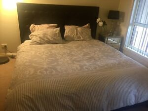 Stunning Black Dare Gallery King Bed + Free Mattress & Bedding Sunbury Hume Area Preview