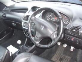 Peugeot 206 Manual Petrol ALLURE S COUPE CABRIOLET Blue 2003 8 PETROL 2003