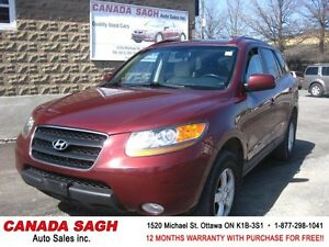 2009 Hyundai Santa Fe V6 AWD CLEAN 151km , 12M.WRTY+SAFETY$6990