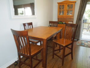 Pub Table and china cabinet