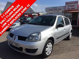 RENAULT CLIO 1.1 CAMPUS 8V 5d 58 BHP IDEAL FIRST CAR, ONLY 71,0 (silver) 2007
