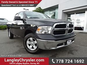 2016 RAM 1500 ST ACCIDENT FREE w/ 4X4, REAR-VIEW CAMERA & TOW...