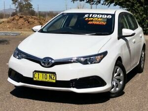 2016 Toyota Corolla ZRE182R Ascent S-CVT White 7 Speed Constant Variable Hatchback Hillvue Tamworth City Preview