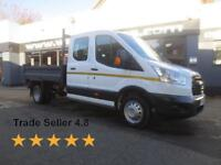 2015 Ford Transit 350 2.2TDCi 125ps L3 D/Cab 7Seat Tipper Diesel white Manual