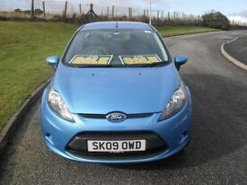 Ford Fiesta 1.25 ( 82ps ) 2009MY Style ONLY38000 Mls 50+MPG 2 Keys 3Dr Blue