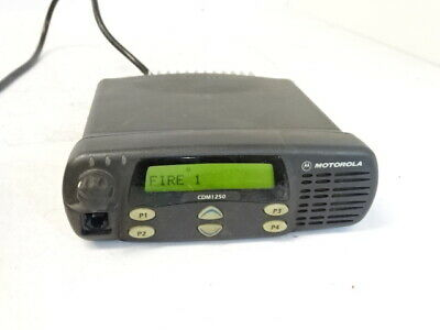Motorola Cdm1250 Uhf Mobile Two-way Radio 450-512mhz Aam25skd9pw2an