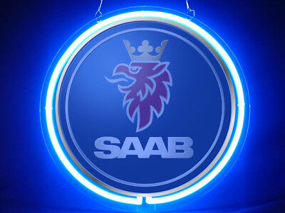 SAAB Car Logo Pub Bar Display Advertising Neon Sign, used for sale  Shipping to Canada