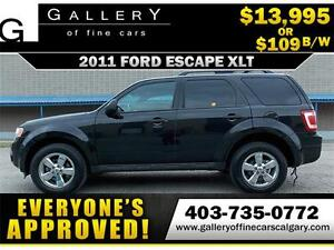 2011 Ford Escape XLT V6 $109 Bi-Weekly APPLY NOW DRIVE NOW