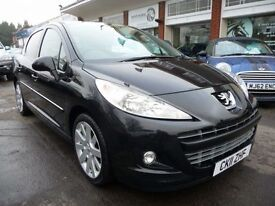 PEUGEOT 207 1.6 HDI ALLURE 5d 92 BHP NOW REDUCED BY £500 (black) 2011