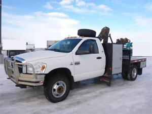 2007 Dodge Ram 3500 Regular Cab Hiab 035 Picker Crane Diesel
