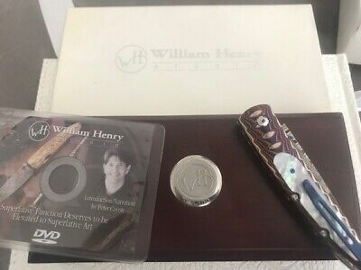 William Henry Limited Edition B10 Decade Lancet Pocket Folding Knife With Clip!