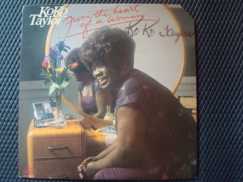 KOKO TAYLOR (SIGNED) RECORD LP  FROM HEART OF A WOMAN