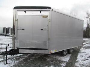 JUST ARRIVED SNOWMOBILE TRAILER WITH TRANSPORT DAMAGE Prince George British Columbia image 1