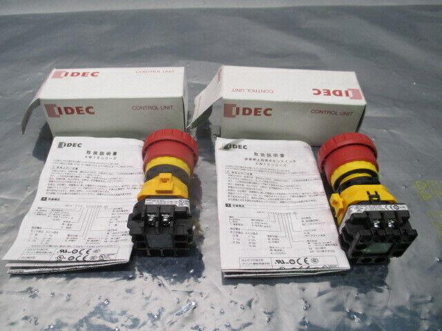 2 IDEC Type XW1E-BV413MR Emergency Stop Button, 100428