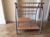Compact Computer Table with keyboard panel and printer shelf- Excellent condition. £19