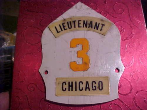 CHICAGO RELIEF LT. TRUCK 3 FIRE DEPARTMENT HELMET FRONT