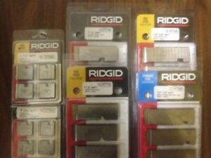 new ridgid machine and hand dies/ridgid 600 dies for sale
