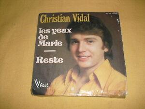 Christian-Vidal-Les-Yeux-De-Marie-45-RPM-7-039-039-Single