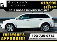 2012 Dodge Journey R/T AWD $159 bi-weekly APPLY NOW DRIVE NOW