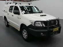 2014 Toyota Hilux KUN26R MY12 SR (4x4) White 5 Speed Manual Dual Cab Pick-up Fyshwick South Canberra Preview