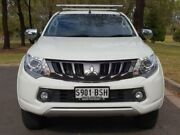 2017 Mitsubishi Triton MQ MY18 Exceed Double Cab White 5 Speed Sports Automatic Utility Hillcrest Port Adelaide Area Preview