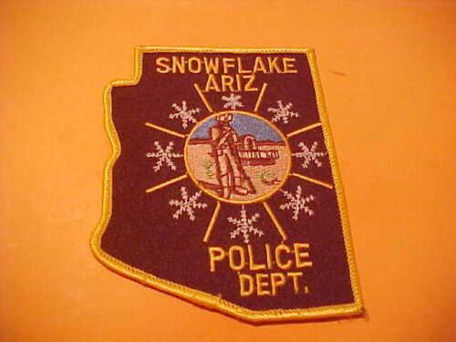 SNOWFLAKE ARIZONA POLICE PATCH SHOULDER SIZE UNUSED