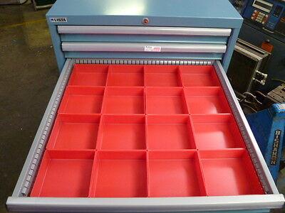 16 6x6x2 Tool Organizer Trays Toolbox Dividers Cups Fit Lista Vidmar