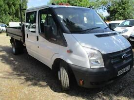 2013 Ford Transit 2.2TDCi 350L Double cab TIPPER PICK UP NO VAT 80,000 MILES