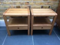 Set of Two Habitat Radius Solid Oak Bedside Tables by Simon Pengelly - Free Local Delivery