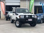 2010 Toyota Landcruiser VDJ79R MY10 GXL White 5 Speed Manual Cab Chassis East Brisbane Brisbane South East Preview