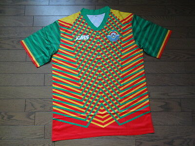 Ethiopia 100% Original Soccer Football Jersey AMS NWOT L Extremely Rare image