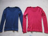 Ladies Jumpers. Size 8. Red and blue. Matalan