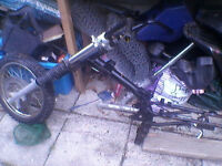 PIT BIKE FRAME AND FORKS