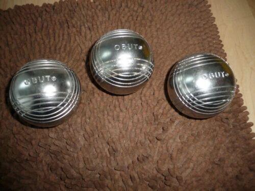 3 Vtg Obut Chrome Balls FRANCE 4 rings