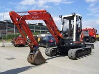 Mini digger dumper hire from 0.8 to 8ton landscape gardens ponds driveways