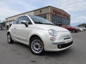 2013 Fiat 500 LOUNGE, ROOF, HTD LEATHER!