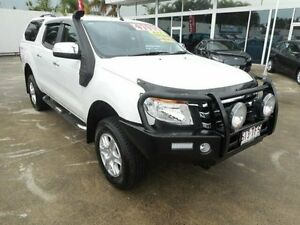 2013 Ford Ranger PX XLT Double Cab White 6 Speed Manual Utility Currimundi Caloundra Area Preview