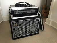 "Bass Guitar Equipment - Bass Amp Ampeg SVT-3 Pro with cabinet SWR ( 2 x10"")"